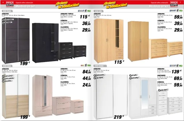 Brico Depot  Catlogo armarios y almacenamiento