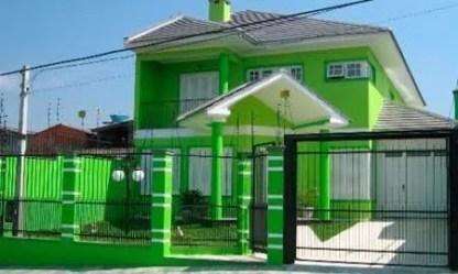 casas colores fachadas exteriores casa fachada verde pintada como pintadas pintar fuera modelos exterior pinturas dos modernas frentes bonitas cor