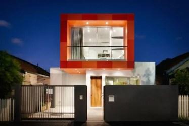casas fachadas colores exteriores blanco naranja casa espaciohogar