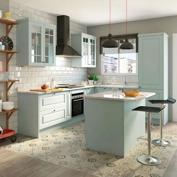 Ms de 50 fotos de cocinas azules decoracin muebles y