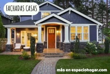 casas colores fachadas casa exterior pintar exteriores fuera azul oscuro blanco pintada pintura molduras campo espaciohogar modelos luxury