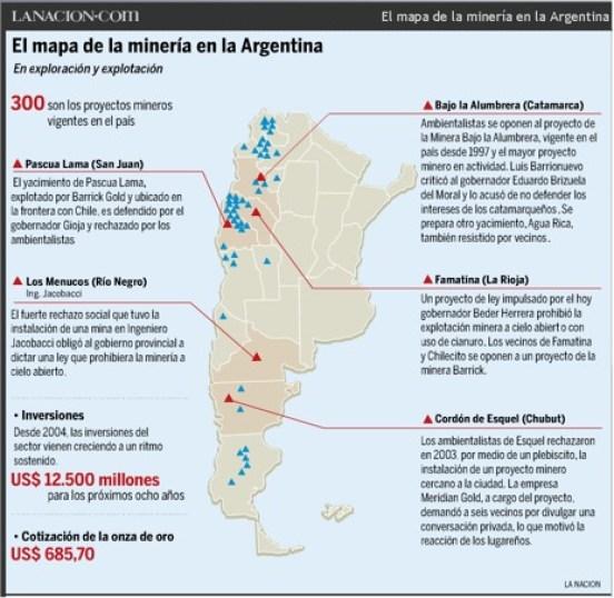 mapa mineria argentina