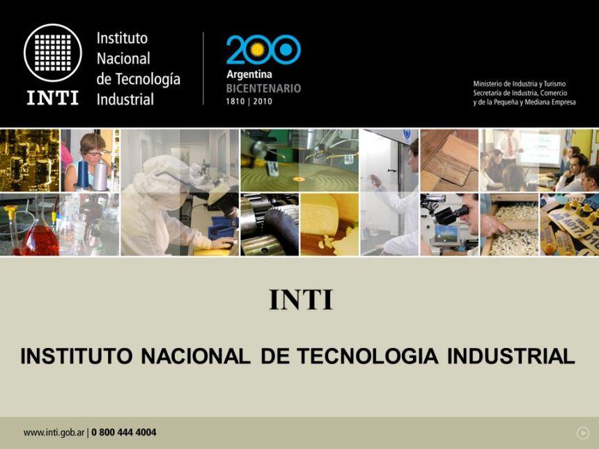 INTI INSTITUTO NACIONAL DE TECNOLOGIA INDUSTRIAL
