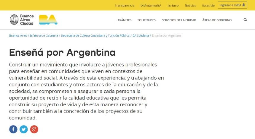 enseña por argentina