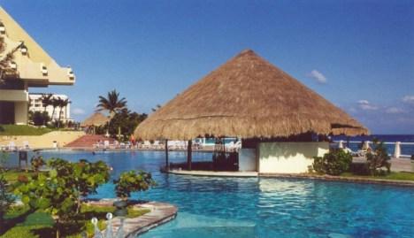La frescura de un hotel en Cancun