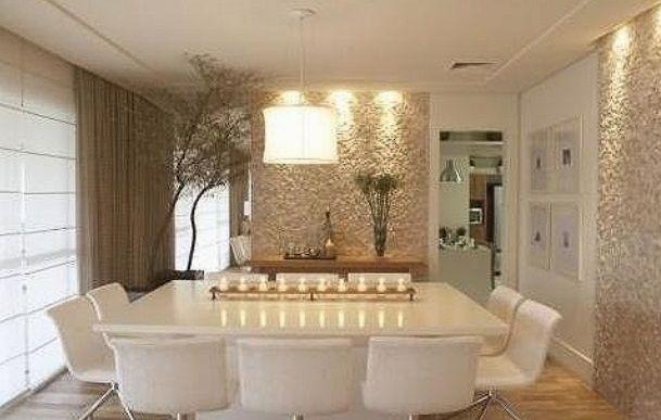 Maneiras modernas de usar espelhos na sala da jantar  Espao Casa