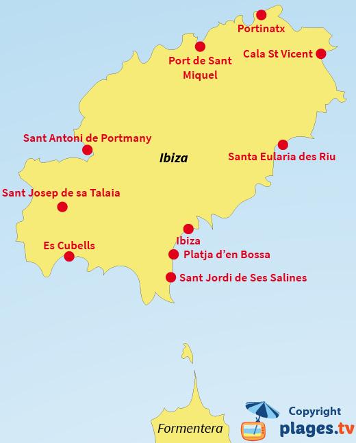 Carte Des Plages De Majorque : carte, plages, majorque, Plages, D'Ibiza, Espagne, Liste, Stations, Balnéaires, Plages.tv