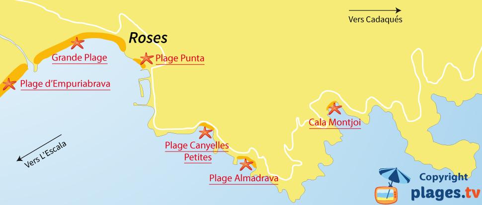 Plages Roses  Station balnaire de Roses  Catalogne