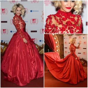 Hot-sale-Custom-Rita-Ora-at-the-MTV-EMA-s-2014-Taffeta-Celebrity-Dresses-Red-Ball