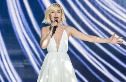 Mandatory Credit: Photo by Action Press/REX Shutterstock (4778973ag)  Russia, Polina Gagarina: A Million Voices  Eurovision Song Contest, Semi-Final 1, dress rehearsal, Vienna, Austria - 18 May 2015