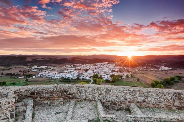 Beautiful morning sunrise in the village of Aljezur