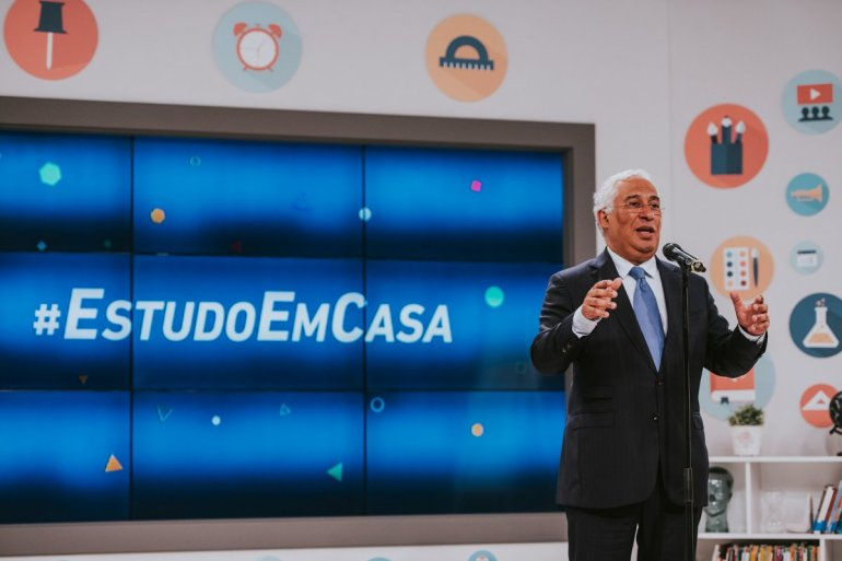 António Costa nos estúdios do #EstudoEmCasa