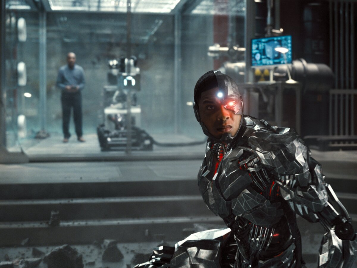 """Cyborg (Ray Fisher) em """"Zack Snyder's Justice League"""""""