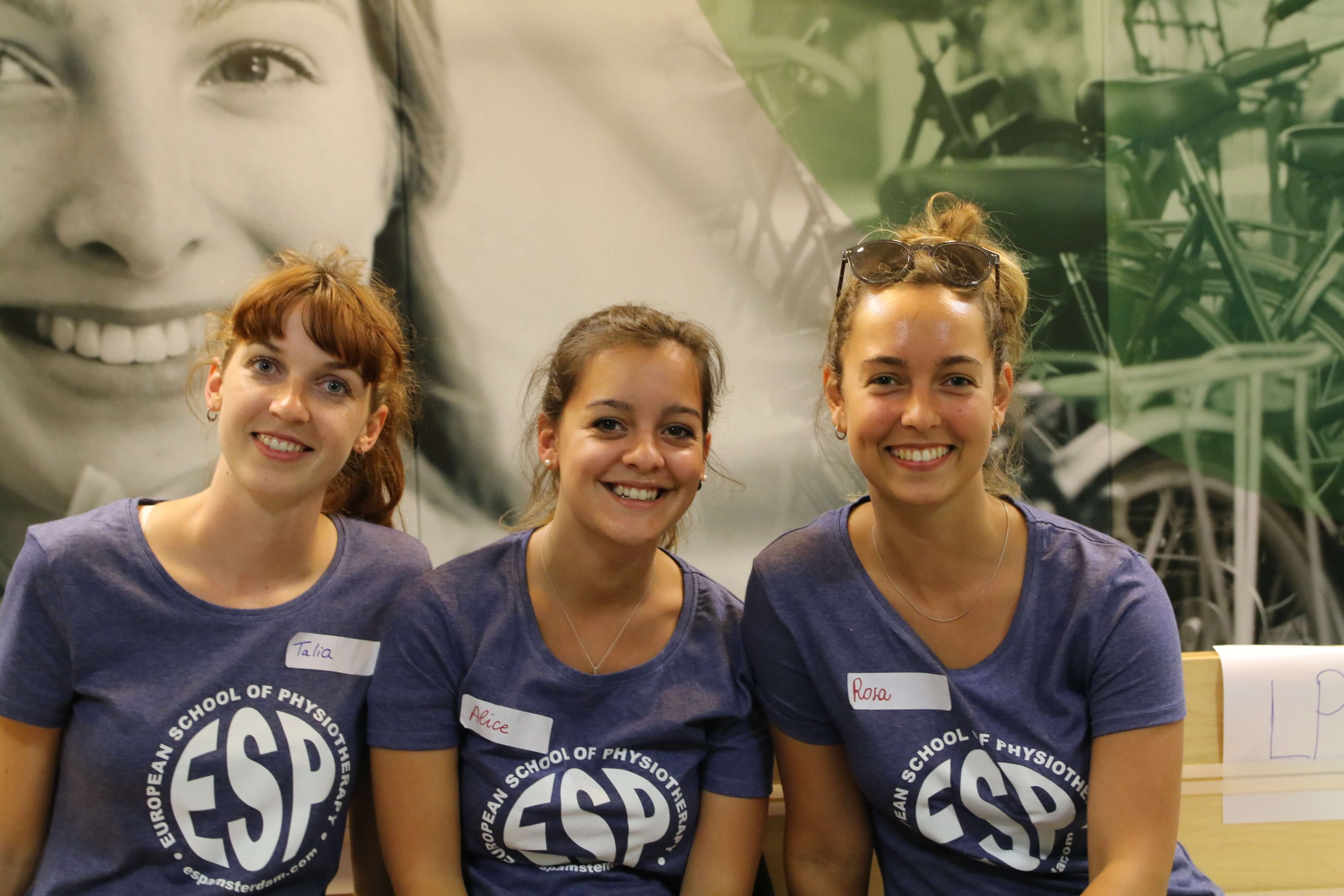 The three lovely ESP leaders - as higher year students, assisted with the organization of week!