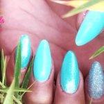 IshtarNails HighFiber Mono BuilderGel Rose Blue Mermaid Glimmer Effect Gel 2