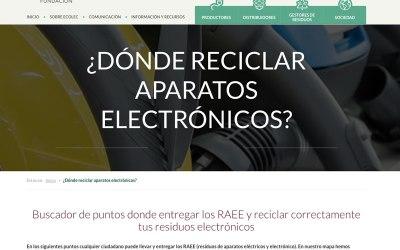 Ecolec te ayuda a encontrar los puntos de reciclaje RAEE