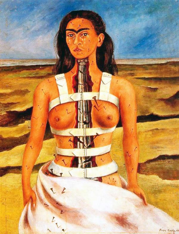 A coluna partida Frida Kahlo