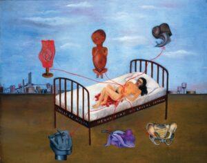 a cama voadora Frida Kahlo