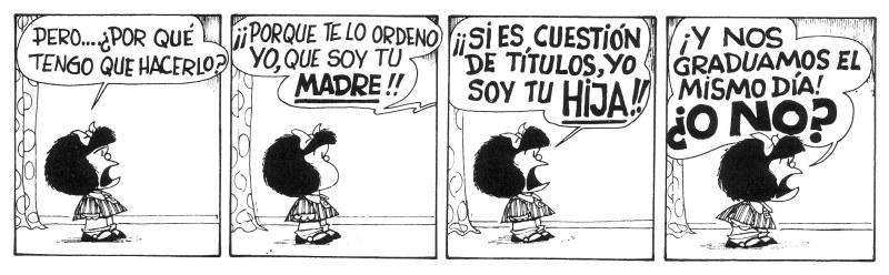historia em quadrinho mafalda em espanhol