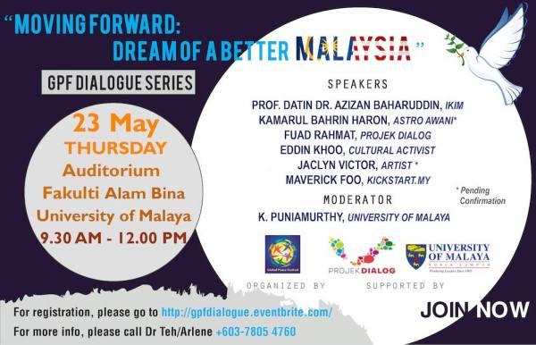 Foro organizado para el 23 de Mayo con el fin de planear el futuro de Malasia