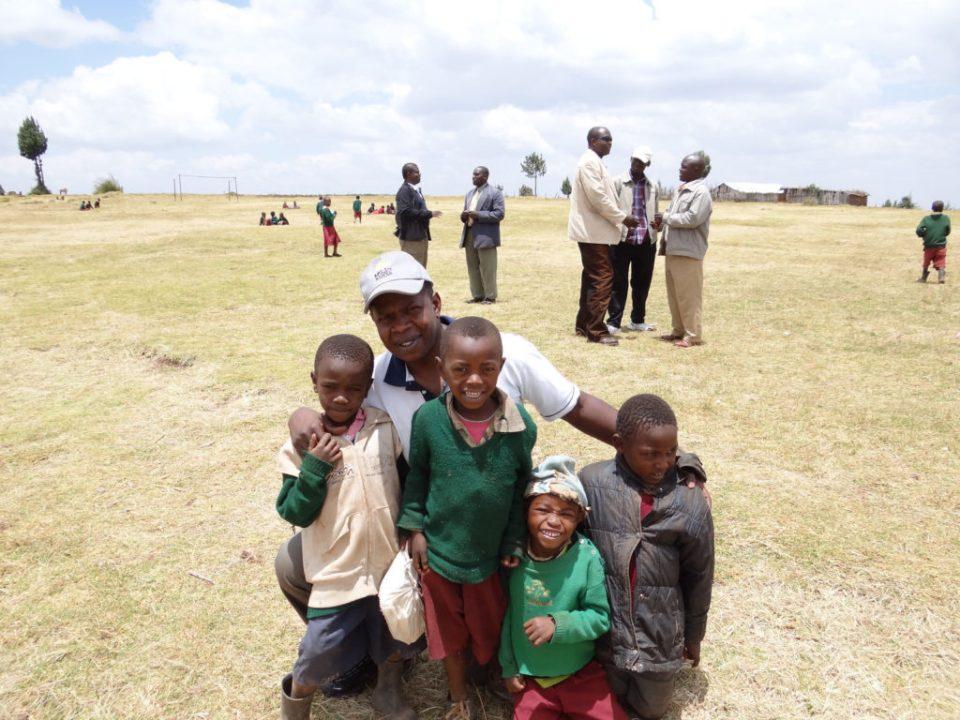 Familia Africana sonriendo
