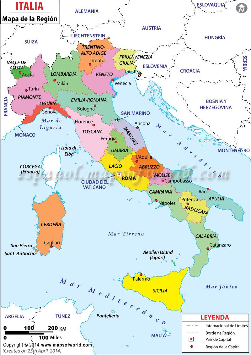 Opiniones de Regiones de Italia