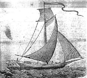 18th century packet boat used for postal service - buque