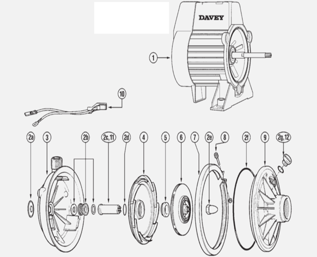 Davey Pump Spare Parts