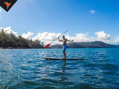 Tato haciendo Paddle surf