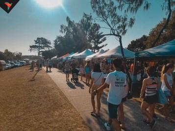 Market en la costanera de Byron Bay