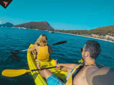 Kayak en Shoal Bay