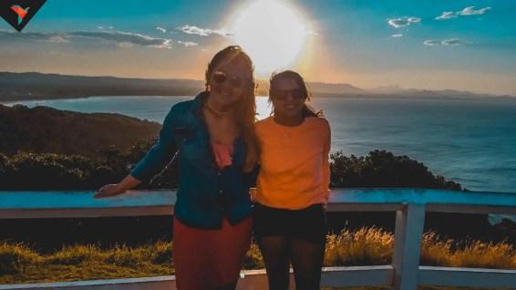 Ursu y Chiqui en el mirador del Lighthouse