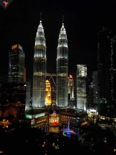 Vista de las Petronas desde el Skybar