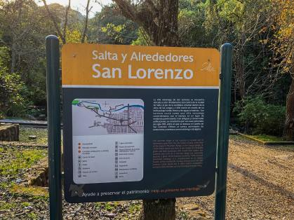 Entrada a la Quebrada San Lorenzo