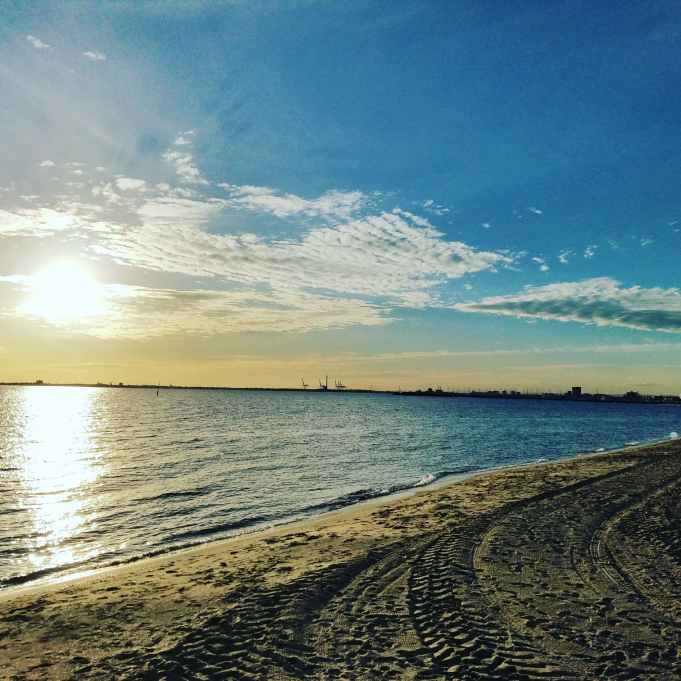 Playa de St Kilda en Melbourne