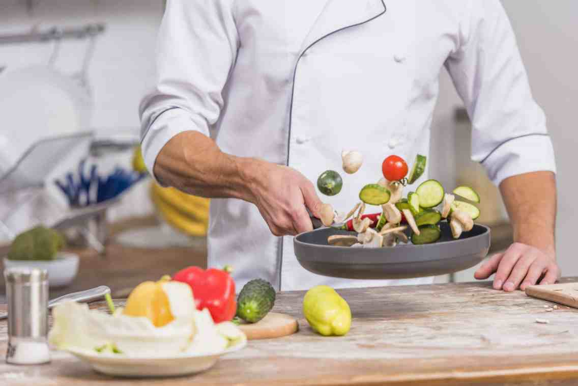 Cocinar sarten chef