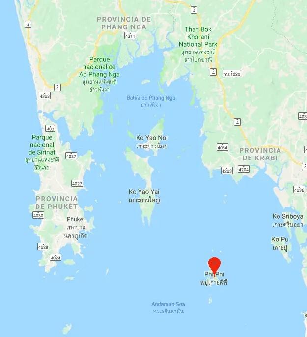 Mapa Phi Phi