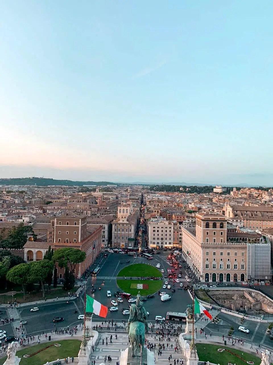Vista desde la terraza de Monumento a Víctor Manuel II