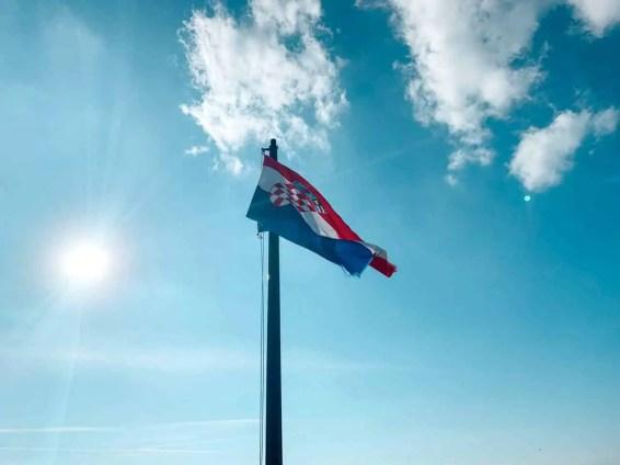 La bandera croata