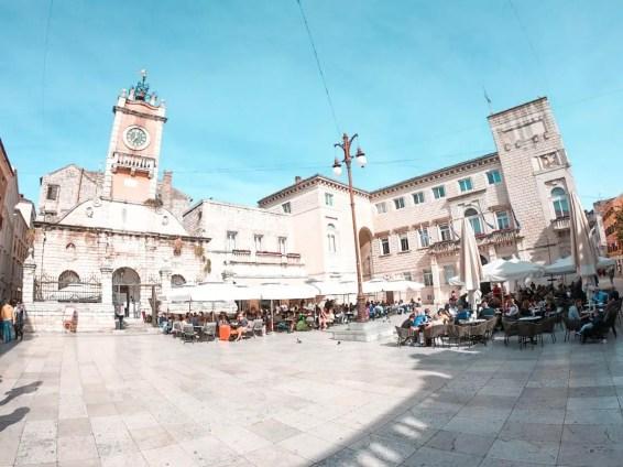 Plaza del pueblo Zadar