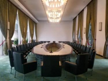 Sala de reuinones en el Palacio de la Reunificación