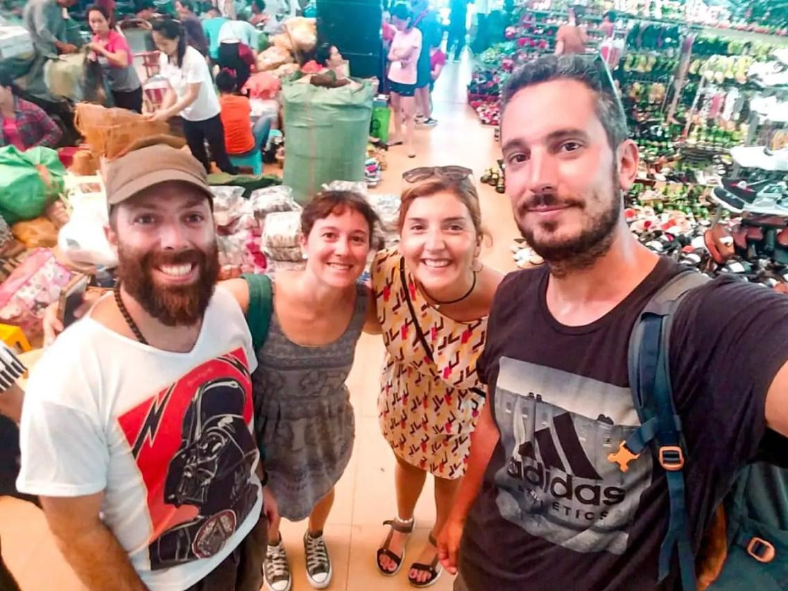 Con amigos en el Free Walking Tour