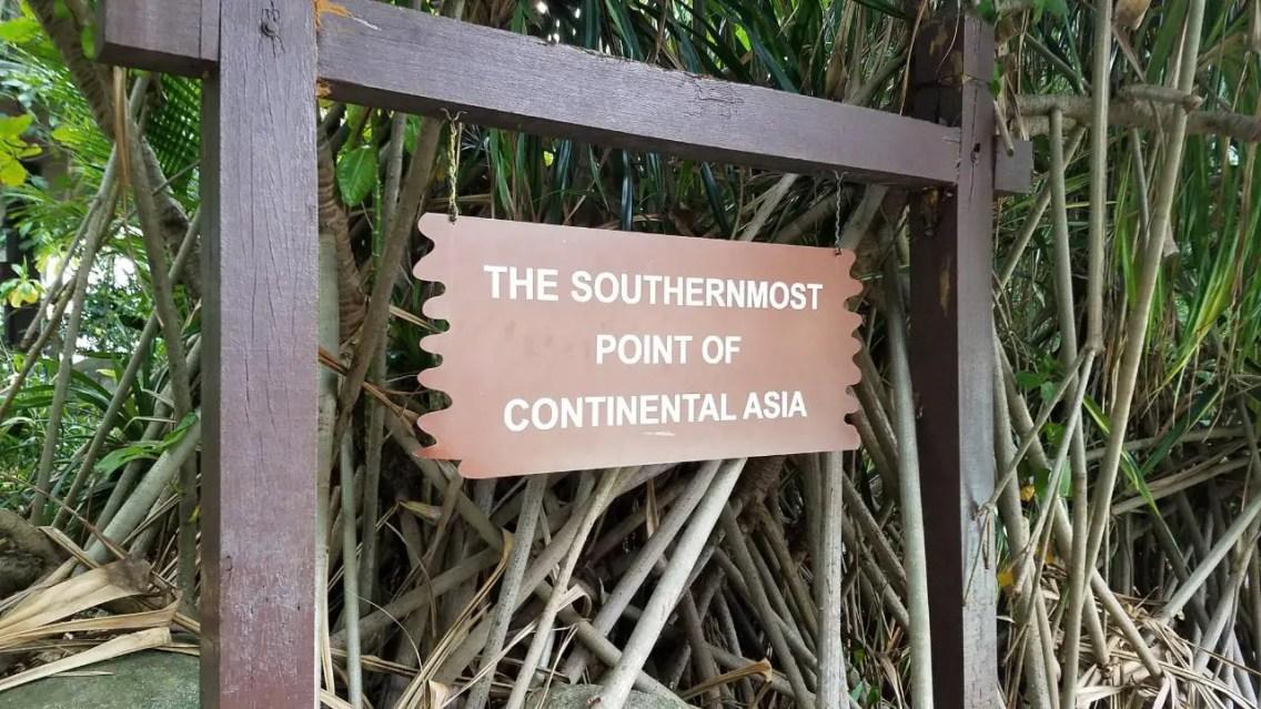 punto más al sur del continente asiático.