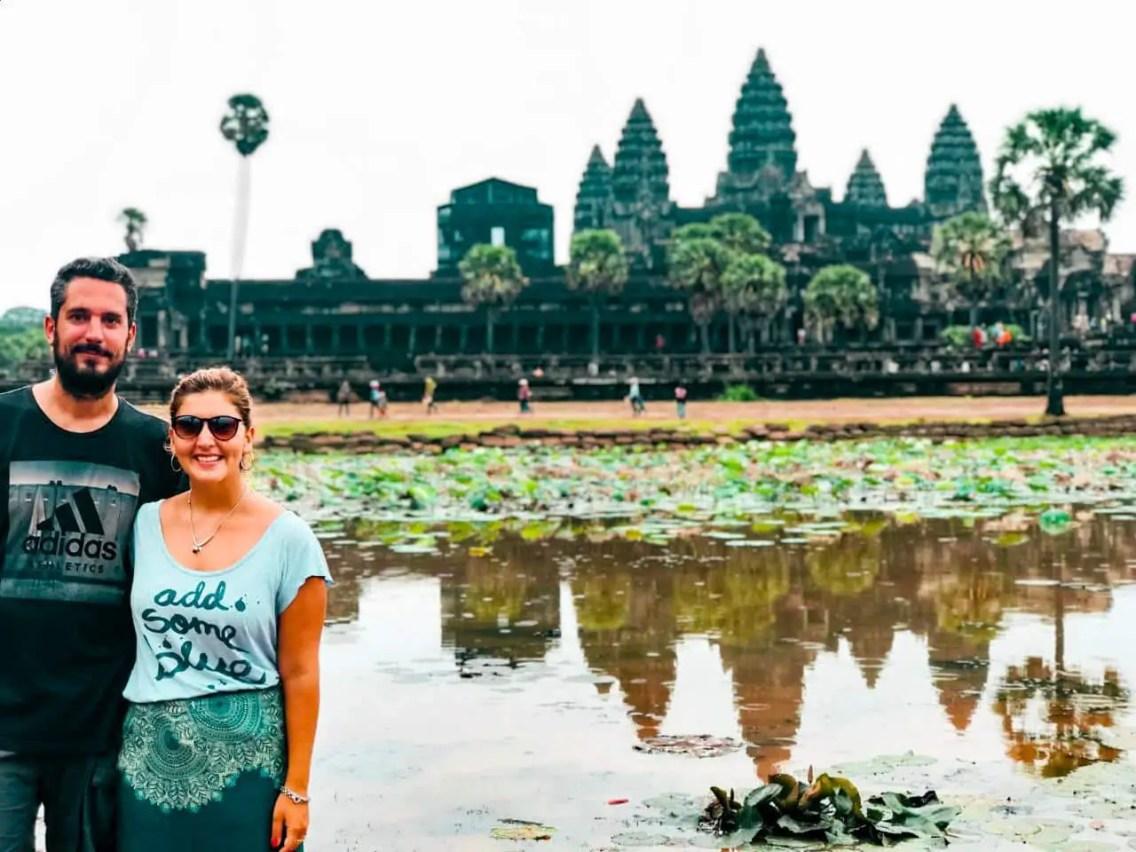 Pareja en Angkor Wat