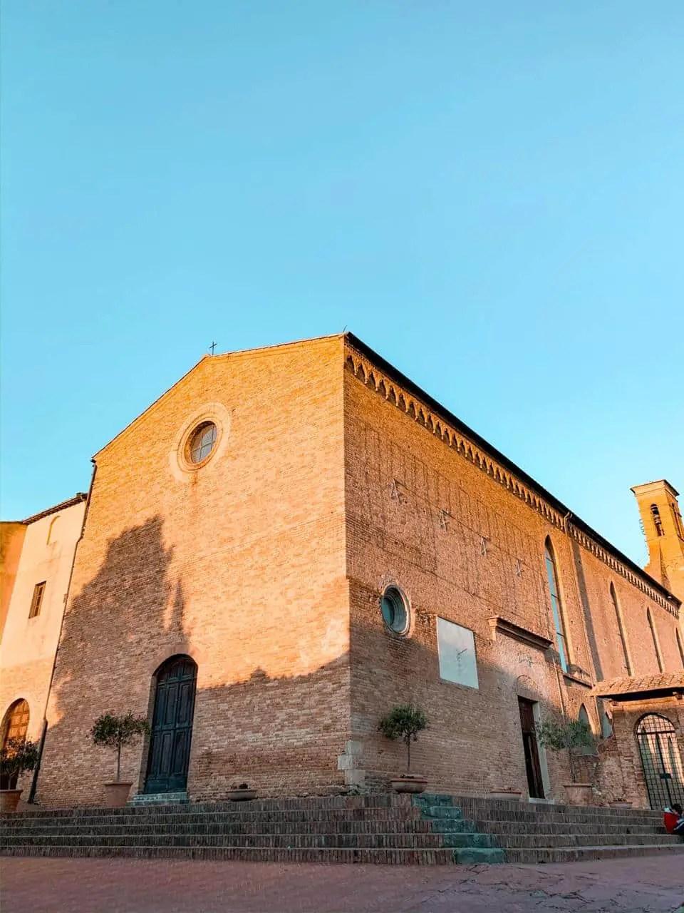 chiesa di sant'agostino san gimignano