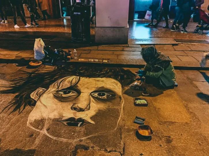 Pintores callejeros en Bolonia
