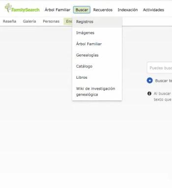 Primer paso hacer click en Buscar Registross