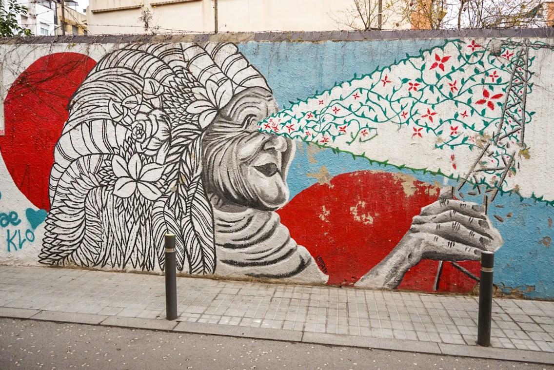 mural veggie en gracia