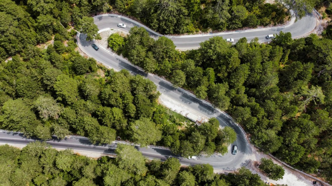 La carretera del Llogara Pass
