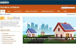 Portada de la web de Sunshot Initiative